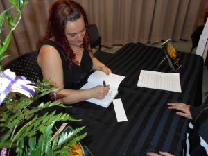 Elle en a signé, des livres !