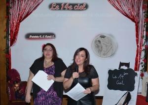 Patricia et Anick, lors de leur présentation, laquelle fut des plus émouvantes.